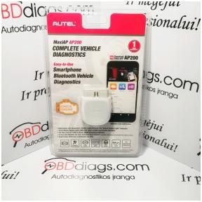 Autel MaxiAP AP200 Android / iOS diagnostinė įranga