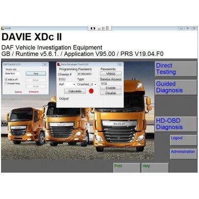 DAF VCI FULL diagnostikos / programavimo įranga su nešiojamu kompiuteriu