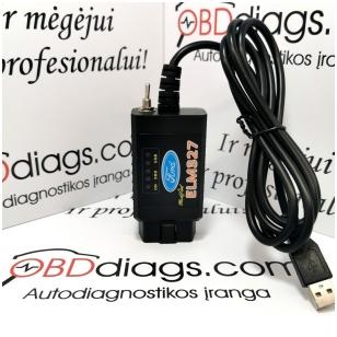 ELM327 Forscan su jungikliu FORD / MAZDA diagnostikos įranga