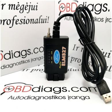 ELM327 Forscan su jungikliu FORD / MAZDA diagnostikos įranga 2