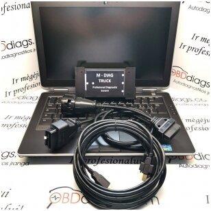 MAN + VOLVO sunkvežimių diagnostikos ir programavimo sistema 2 in 1 su nešiojamu kompiuteriu