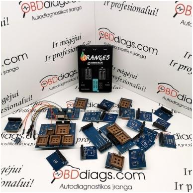 Orange5 profesionalus programatorius + adapterių komplektas 2