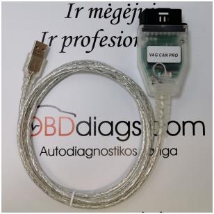 VAG CAN P diagnostikos ir kodavimo įranga Audi, VW, Škoda, Seat
